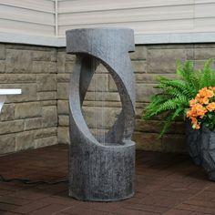 Water Fountain Design, Tabletop Water Fountain, Garden Water Fountains, Fountain Ideas, Outdoor Fountains, Modern Fountain, Garden Ponds, Koi Ponds, Outdoor Waterfall Fountain