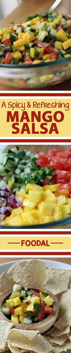It's hot and it's cold. It's got a hint of spice while it's really refreshing at the same time. It may sound like an oxymoron, but this mango salsa recipe proves that this unique balance of flavor, temperature and texture is not only possible, but delicious. With additional ingredients as vibrant as jalapeno, purple onion, and cilantro, this recipe looks as good as it tastes. Give it a try today. http://foodal.com/recipes/mexican-latin-america/spicy-mango-salsa/