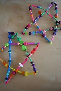 Pipe cleaner and bead stars