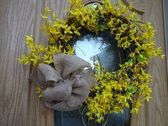 Items similar to Forsythia Wreath Yellow Wreath Spring and Summer Wreath Summer Wreath Front Door Wreath Wreath Easter Wreath Easter Decor Hostess Gift on Etsy Forsythia Wreath, Twig Wreath, Wreath Crafts, Boxwood Wreath, Purple Wreath, Green Wreath, Floral Wreath, Indoor Wreath, Easter Wreaths