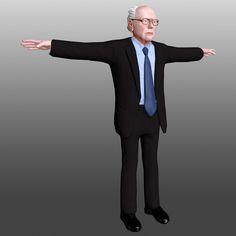3D Model Bernie Sanders   People 3D Models   KingTomislav - 3D Squirrel