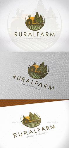 Rural Farm Logo Design — Photoshop PSD #tree #farm logo template • Available here → https://graphicriver.net/item/rural-farm-logo-design/19361761?ref=pxcr