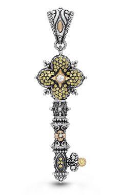 Key of Wishes Pendant – Yellow Sapphire, White Topaz – Barbara Bixby