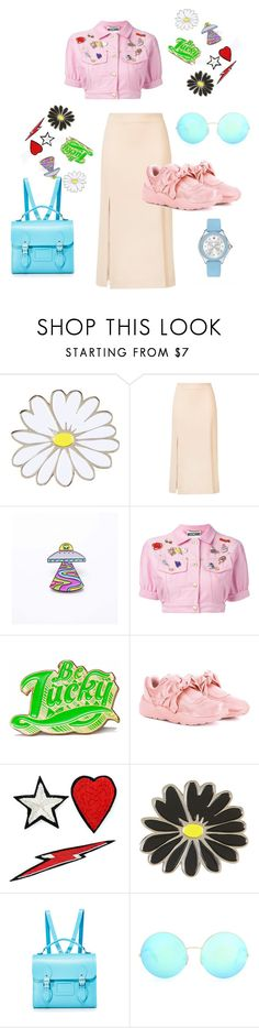"""chips"" by thedeannaelizabeth on Polyvore featuring Topshop, Ryan Roche, Moschino, Marby & Elm, Puma, Racil, The Cambridge Satchel Company, Victoria Beckham and Michele"