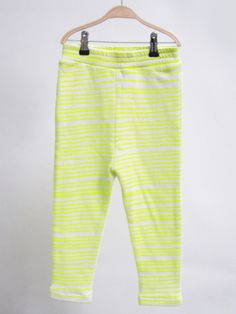 Kids Soft Neon Yellow Stripe Pants  by noe and Zoe