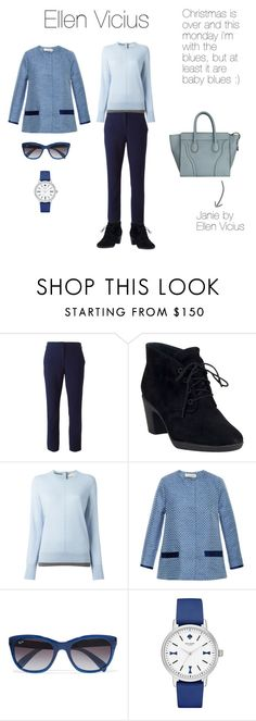 """""""Ellen Vicius in an after Christmas mood"""" by ellenvicius ❤ liked on Polyvore featuring Diane Von Furstenberg, Clarks, Tory Burch, Kalmanovich, Ray-Ban, Kate Spade, women's clothing, women's fashion, women and female"""