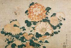 Katsushika Hokusai - Chrysanthemums