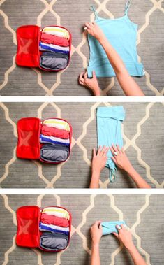 handy trick to roll clothing for packing and luggage cubes.A handy trick to roll clothing for packing and luggage cubes. Vacation Packing, Packing Tips For Travel, Travel Essentials, Packing Hacks, Travel Hacks, Luggage Packing, Suitcase Packing Tips, Pack Suitcase, Packing Ideas