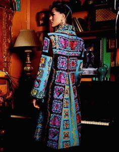 Ivko toller farbenfroher Mantel