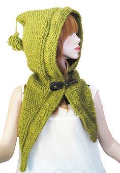 Ravelry: Sage Woodland Hood pattern by Rena Varsakis. Click to download.