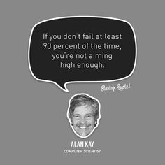 Failing is a product of hard work. So aim beyond your reach and fail more often and don't worry about what someone else says or points out.