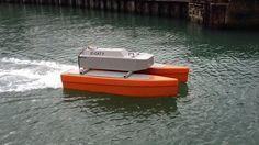 シーキャット2(C-Cat 2)。イギリスに拠点を置くASV Ltdにて発表された水質検査のサンプリングなどを行えるUSV(無人水上艇)の一つ。他にも環境アセスメントや近海での調査にも対応する。最高速度は5ノット。