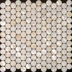 Penny round mother of pearl tile backsplash for kitchen and bathroom shower wall tiles design cheap white shell mosaic tile sheets ST006