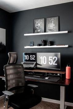 Fliqlo - Flip Clock App and Screensaver Home Studio Setup, Home Office Setup, Home Office Design, Desk Setup, Small Home Offices, Diy Home Decor, Room Decor, Bedroom Setup, Game Room Design