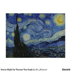 off Hand made oil painting reproduction of Starry Night, one of the most famous paintings by Vincent Van Gogh. Painted a year after his Starry Night Over the Rhone, Van Gogh&r. Gogh The Starry Night, Starry Nights, Starry Starry Night Painting, Starry Night Original, Stary Night Van Gogh, Van Gogh Pinturas, Arte Van Gogh, Van Gogh Paintings, Artwork Paintings