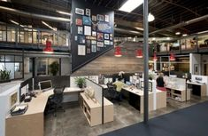27 Trendy Home Office Layout Mezzanine Open Office, Loft Office, Office Cubicle, Office Space Design, Office Interior Design, Office Interiors, Design Offices, Office Designs, Commercial Design