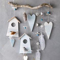 Naturzauber Frühling - New Ideas Diy Clay, Clay Crafts, Wood Crafts, Diy And Crafts, Clay Christmas Decorations, Christmas Crafts, Wood Craft Patterns, Hand Built Pottery, Mason Jar Crafts