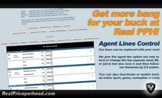 RealPriceperhead Agent lines control feature allows agents to completely take over their own sports betting lines at any time. Include on our #Payperhead package at no additional cost. #sports www.realpriceperhead.com