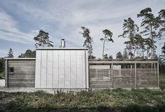 Villa Hagerman, Ljugarn – M. Container Shop, Scandi Style, Interior Exterior, Tiny House, Small Houses, Minimalist Home, Villa, House Design, Patio