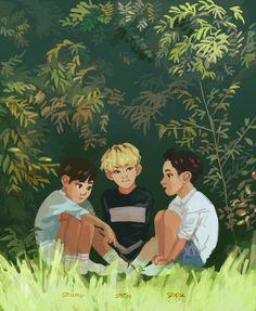 tiny trio :-) #seungkwan #hoshi #DK