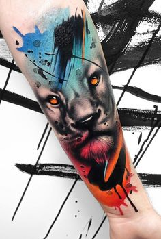 It took over thirteen years to finally understand why they call the lion the king of the jungle. Well actually we still. Full Sleeve Tattoos, Leg Tattoos, Body Art Tattoos, I Tattoo, Unique Tattoos For Men, Tattoos For Guys, Mens Lion Tattoo, Male Lion, World Tattoo