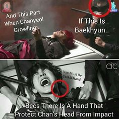 (^ㅍ^)❤❤('ㅅ') Klipte Chanyeol' un kafasını çarpmaması için koruyan el Baekhyun'a aitmiş shskdlfk ulan resmen inadına chanbaek yapıyorlar #ChanBaekIsReal @baekhyunee_exo @real__pcy #ChanBaek #ChanYeol #BaekHyun #BaekYeol