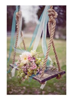 I think 2 swings would be so cute, one for the groom, one for the bride!