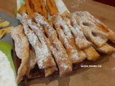 Faworki - prosty i szybki przepis - Swojskie jedzonko Nutella, French Toast, Bread, Breakfast, Food, Food And Drinks, Morning Coffee, Brot, Essen