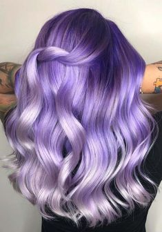 60 Popular Purple Hair Color Trends for 2018. There are alot of shades in purple hair colors like lavender, purple plum and violet hair color tones. All these shades are sophisticated and awesome for ladies for gorgeous and attractive personality. The best thing about purple hair color is that it works well on different hair lengths like long, medium & short hair.
