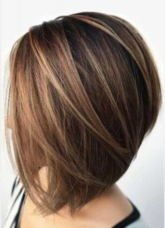 60 Hairstyles Featuring Dark Brown Hair with Highlights Inverted Bronde Balayage Bob [br] Medium Hair Styles, Short Hair Styles, Hair Medium, Bob Styles, Bronde Balayage, Brown Hair With Highlights, Partial Highlights, Short Bob Hairstyles, Brown Hairstyles