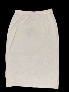 NWT St.John Evening 10 Marie Gray Ivory Santana Knit Straight Pencil skirt #StJohn #StraightPencil