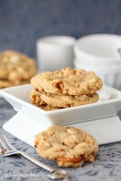 Double White Chocolate & Pretzel PB Cookies