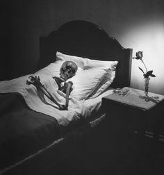 The dangers of staying in bed, 1946 - by Philippe Halsman (1906 – 1979), Latvian/USA