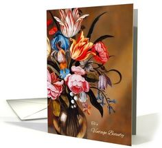 Birthday for Her Vintage Art Floral by... | Greeting Card Universe by Salon of Art Greetings