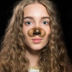 Puppy Face - Give a whole new purpose to your contouring kit this Halloween when you draw a puppy nose on yourself.