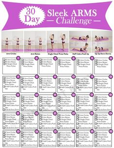 30 – Day ARM Workout Challenge for Women to Lose ARM Fat – The Power Of Natu. Arm Workout Challenge, 30 Day Arm Challenge, Monthly Challenge, Arm Exercise Challenges, Workout Ideas, Exercise Plans, Fitness Challenges, Kettlebell Training, Detox Yoga