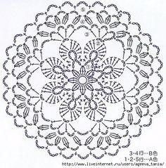 Trendy ideas for crochet blanket flower ganchillo Crochet Doily Patterns, Crochet Diagram, Crochet Chart, Crochet Granny, Irish Crochet, Crochet Designs, Crochet Doilies, Crochet Flowers, Crochet Lace