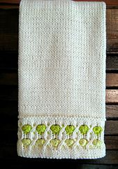 Ravelry: Bubble Up Towel pattern by Susan Luni -- Want to use this as sleeve edge...