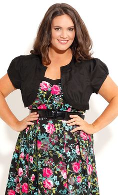 City Chic CUTE BOLERO JACKET -Women's Plus Size Fashion