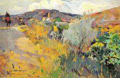 joaquim mir i Spanish Painters, Spanish Artists, Landscape Art, Landscape Paintings, Landscapes, Contemporary Abstract Art, Impressionist Paintings, Traditional Paintings, Paintings I Love