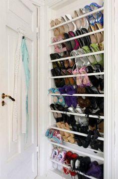 6 ideias criativas para guardar sapatos em espaços pequenos - Bolsa de Mulher