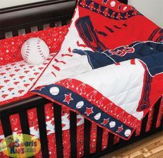 MLB, Red Sox Bedding - Sports coverage MLB Boston Red Sox Micro Fiber 5-Piece Crib Set - SportsKids Superstore