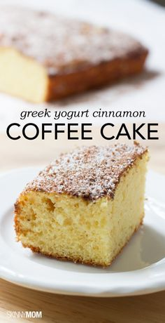 This skinny coffee cake is absolutely delicious and super easy to make. Get the recipe here!