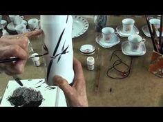 Peinture sur porcelaine - YouTube