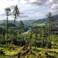 Views from Fonab Forest over Killiecrankie
