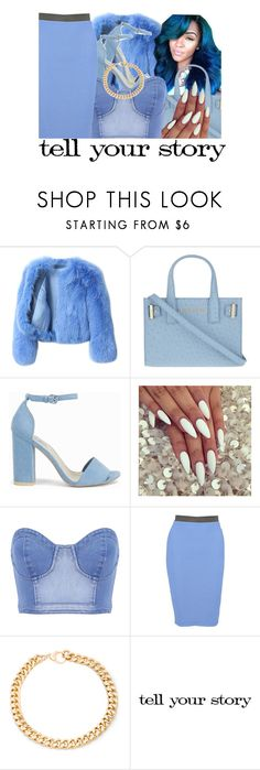 """""""Untitled #366"""" by kaykay47 ❤ liked on Polyvore featuring G.V.G.V., Kurt Geiger, Nly Shoes, Boohoo, Alessandra Rich and Tim Holtz"""