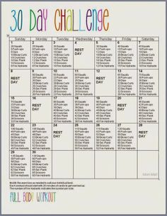 The 30 Day Challenge !