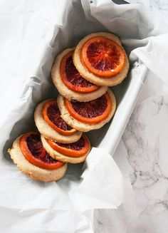 BLOOD ORANGE SHORTBREAD COOKIES
