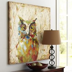 I WANT this for my dining room...Quirky Owl Art