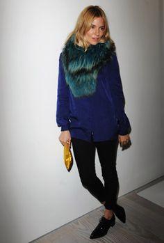 London: Sienna Miller at Matthew Williamson